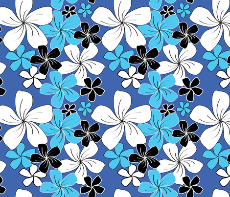 Blue Bouquet fabric by jjtrends on Spoonflower - custom fabric