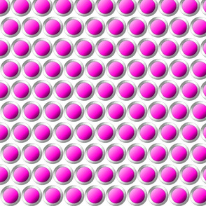 Magenta dots with silver lining.