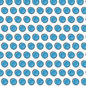 teal blue dots with silver lining