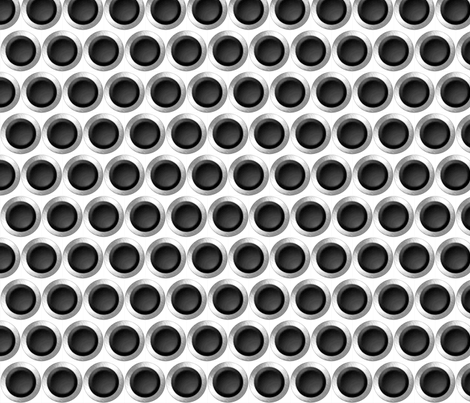 black dots fabric by whimzwhirled on Spoonflower - custom fabric