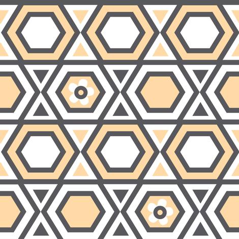 SUMMER BREEZE - Bee Hive Sorbet fabric by doodletrain on Spoonflower - custom fabric