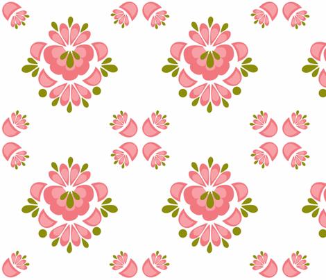 Matilda_Pink fabric by designedtoat on Spoonflower - custom fabric