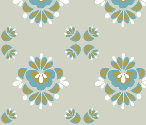 Matilda_Green fabric by designedtoat on Spoonflower - custom fabric