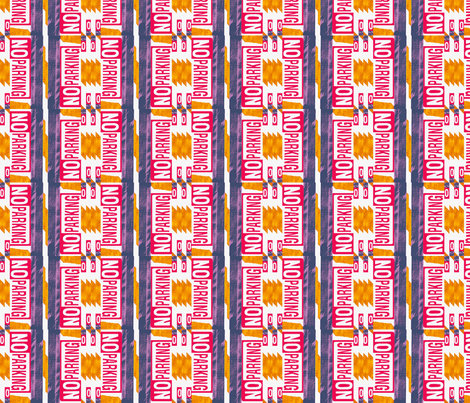 No Parking -- Urban Landscape 3 fabric by robin_rice on Spoonflower - custom fabric