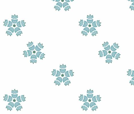 Matilda_Blue fabric by designedtoat on Spoonflower - custom fabric