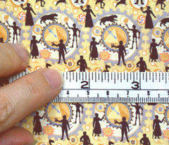 Steampunk Time Machine Doll fabric  © 2011 by Jane Walker