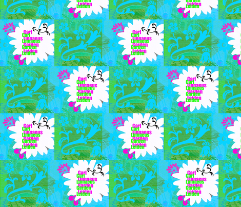 Carllinnaeus_Garden_green fabric by _vandecraats on Spoonflower - custom fabric