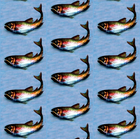 fish on linen 2 fabric by paragonstudios on Spoonflower - custom fabric