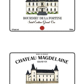 Chateau Wine Prints for Pillows