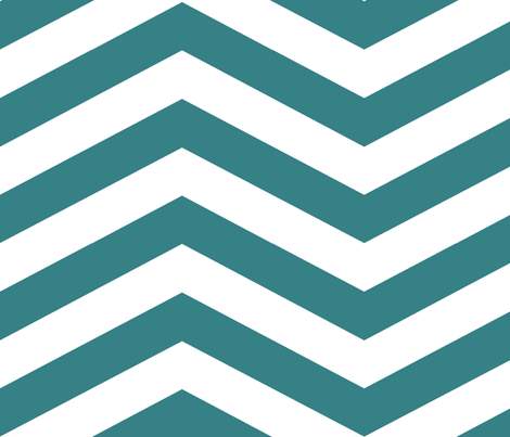Teal Chevron fabric by mgterry on Spoonflower - custom fabric