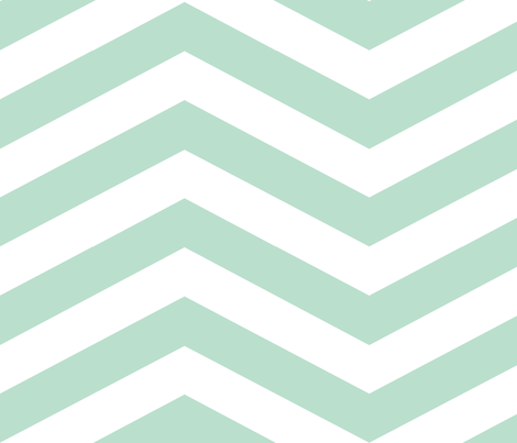 Mint Chevron fabric by mgterry on Spoonflower - custom fabric