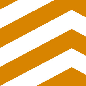 Orange and White Chevron