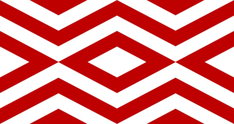 Red and White Chevron wallpaper - mgterry - Spoonflower