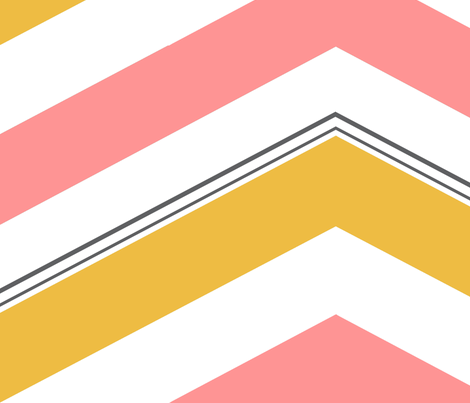 Cheery Spring Chevron fabric by mgterry on Spoonflower - custom fabric