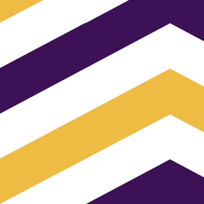 Plum and Gold Chevron