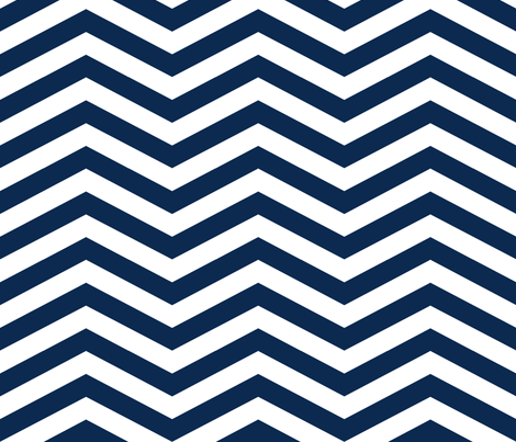 Medium Navy Chevron fabric by mgterry on Spoonflower - custom fabric