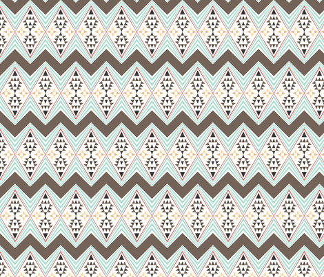 Tribal pattern - Original fabric by seabluestudio on Spoonflower - custom fabric
