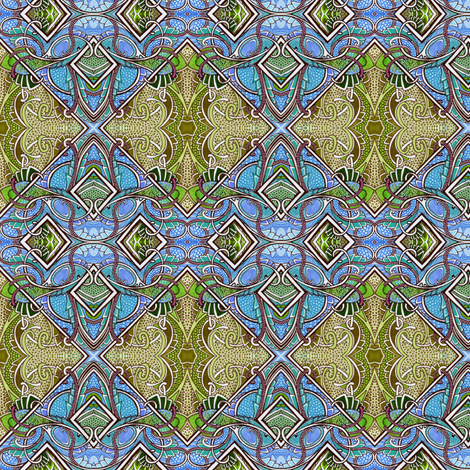 Jewel in the Crown fabric by edsel2084 on Spoonflower - custom fabric