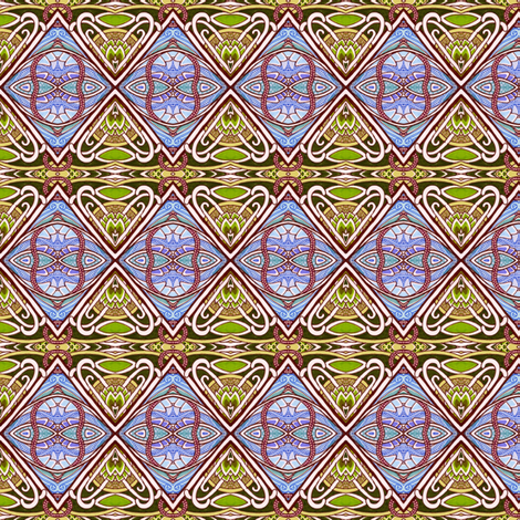 Nouveau Triangles fabric by edsel2084 on Spoonflower - custom fabric