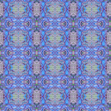 Blue Nouveau fabric by edsel2084 on Spoonflower - custom fabric