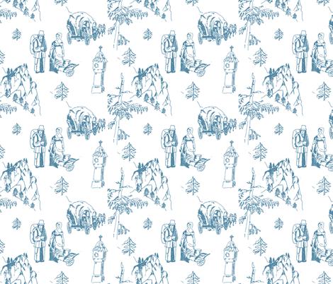 Schottwien_Toile_de_Jouy fabric by lilliblomma on Spoonflower - custom fabric
