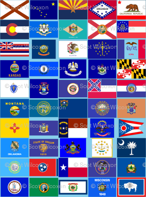 United States state flags repeating