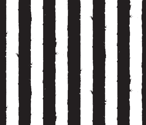 distress wide stripe black white fabric by whatever-works on Spoonflower - custom fabric