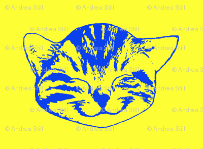 kitty small blue yellow
