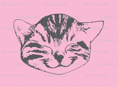 kitty small pink gray
