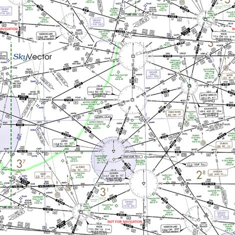 Aviation IFR Map fabric by mariella_dear09 on Spoonflower - custom fabric
