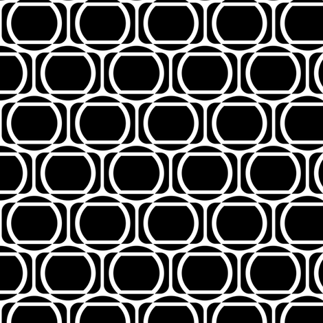Zeke's Pattern - B&W fabric by run_quiltgirl_run on Spoonflower - custom fabric