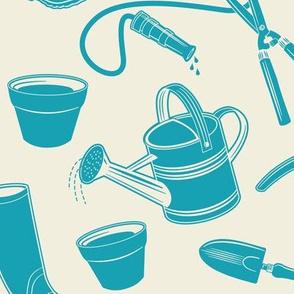 Gardening Tools ~ Deep Turquoise