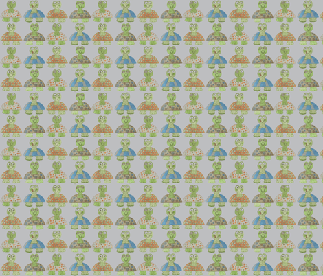 Long Neck Turtles fabric by kbexquisites on Spoonflower - custom fabric