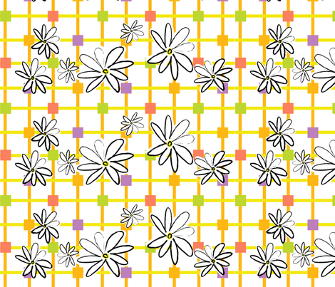 Daisey Plaid fabric by sarah_nussbaumer on Spoonflower - custom fabric