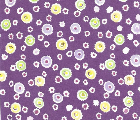 Deckled Dots on Purple