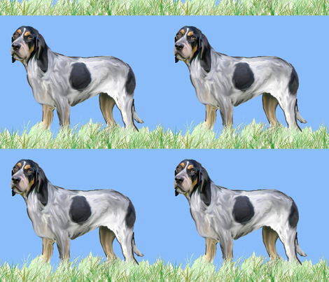 Bluetick Coonhound fabric by dogdaze_ on Spoonflower - custom fabric