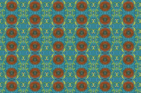 kate's flower again fabric by hooeybatiks on Spoonflower - custom fabric