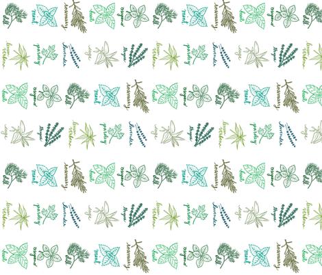 herbs fabric by katherinecodega on Spoonflower - custom fabric
