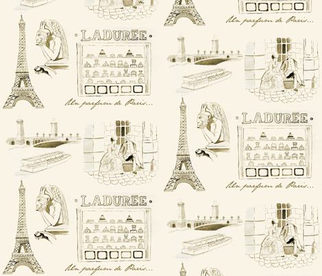 Un parfum de Paris... fabric by the-cupcake-club on Spoonflower - custom fabric