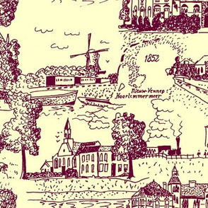 Haarlemmermeer Toile de Jouy