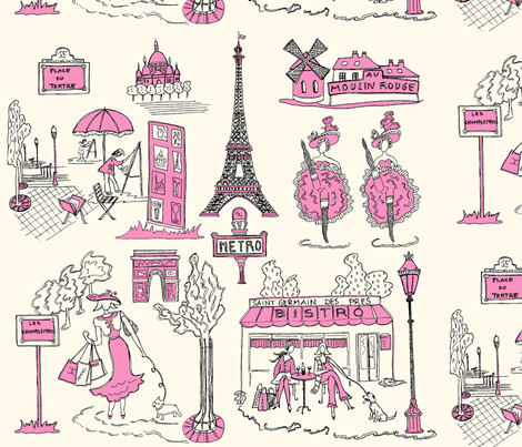 Paris sera toujours Paris... fabric by mouchette on Spoonflower - custom fabric