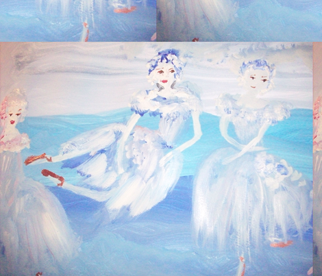 Shadow Ballet fabric by myartself on Spoonflower - custom fabric