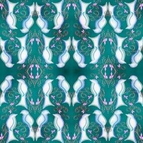 love birds turquoise