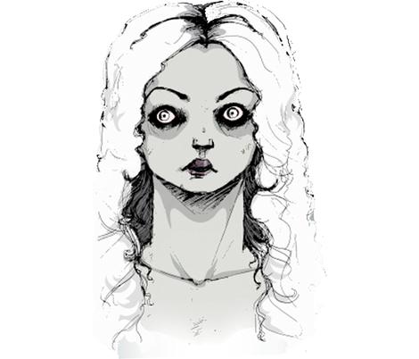 Ghost_Girl fabric by rainlongson-artist on Spoonflower - custom fabric