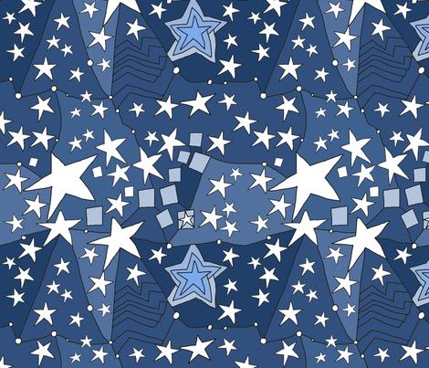 Stars constellation fabric by luckyrobin on Spoonflower - custom fabric