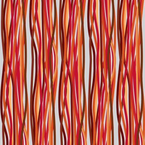 red cables fabric by mariao on Spoonflower - custom fabric