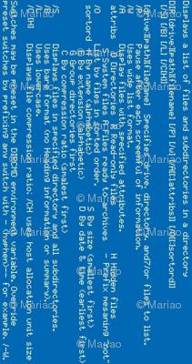 blue MS-DOS