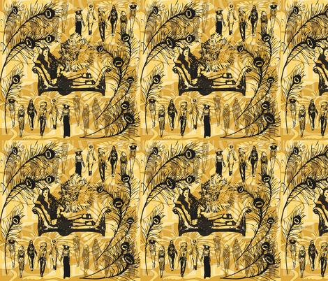 London's Biba fabric by kociara on Spoonflower - custom fabric