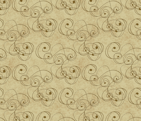 vintage Swirly 02a fabric by lacefairy on Spoonflower - custom fabric