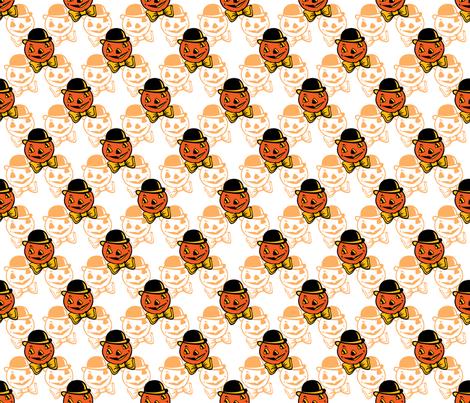 Dapper Pumpkin ~ Orange Variant fabric by retrorudolphs on Spoonflower - custom fabric
